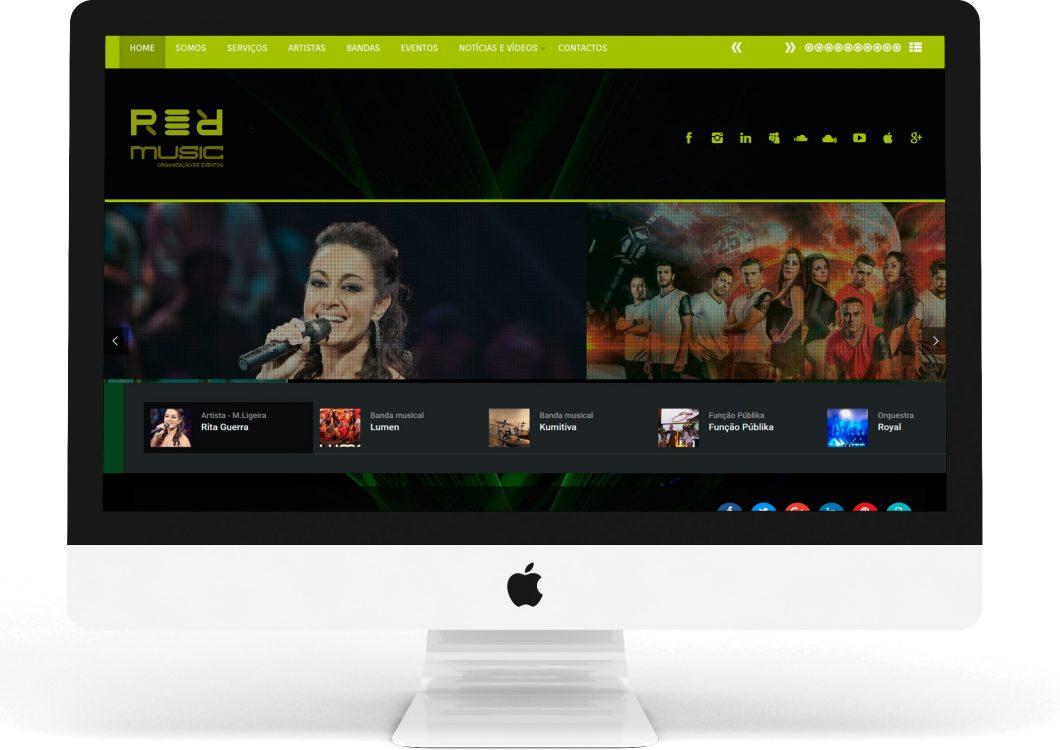 Site da R.R. Music, Bandas e Artistas