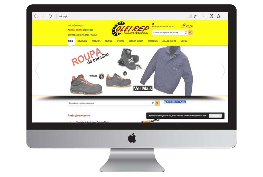 Construção da Loja Online | OLEIREP