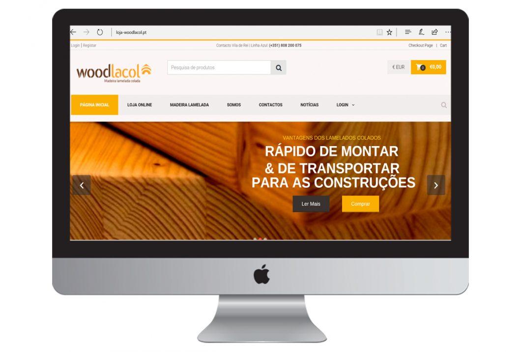 Desenvolvemos a loja online | WOODLACOL