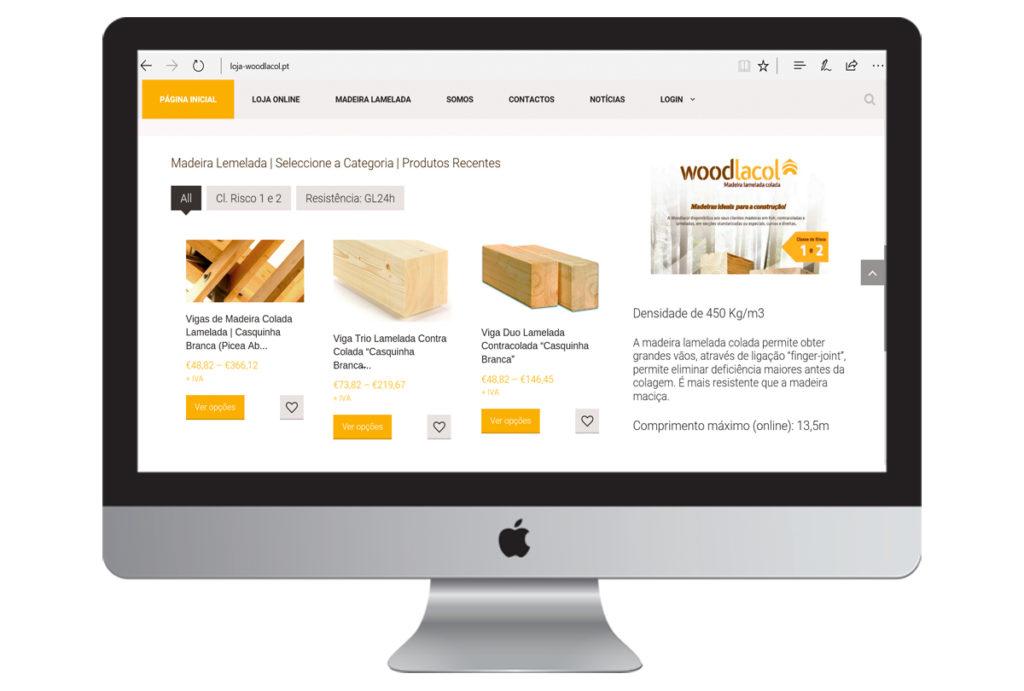 contrução de lojas online - woodlacol - Vila de Rei - madeiras
