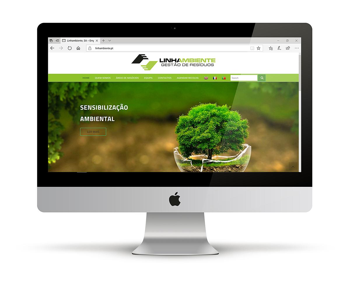 Desenvolvimento de sites - Linha Ambiente - Tratamento de Resíduos ambientais