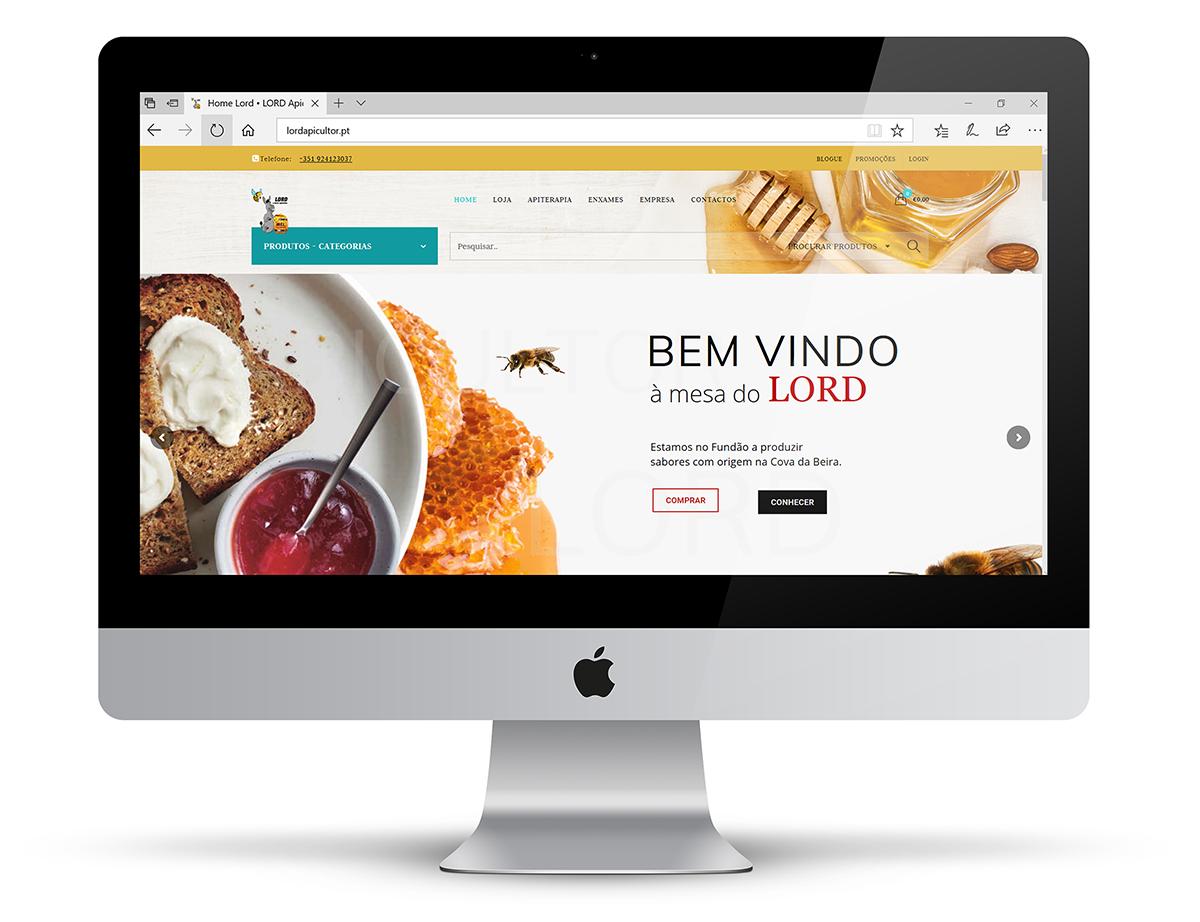 Desenvolvimento de web sites- Lojas - LORD apicultor