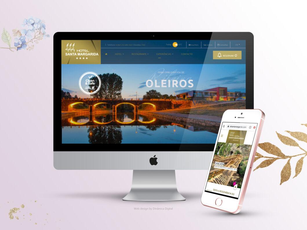 Web Design | Site reservas online | Hotel Santa Margarida