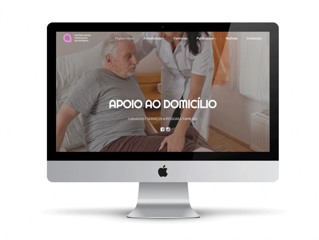 Web Design | Site do Centro Social e Paroquial de Estreito