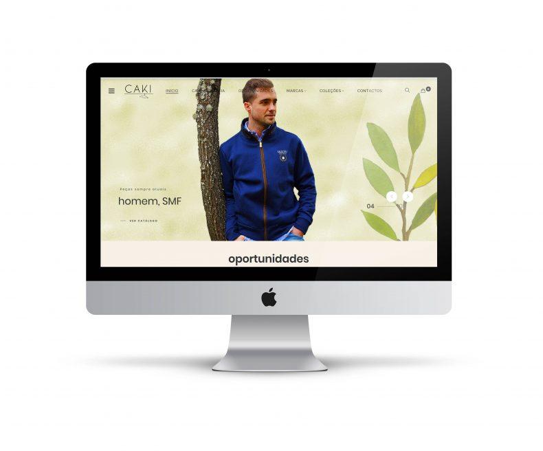 CAKI OLEIROS | Web site e loja digital para venda de artigos de moda.
