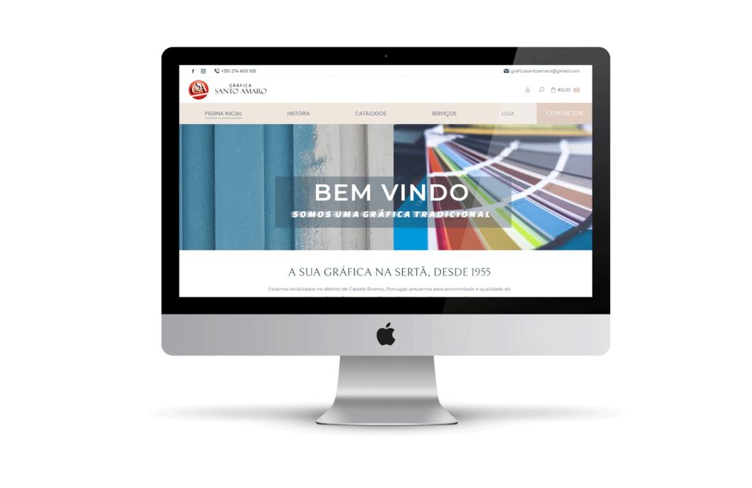 Web design | Loja online | Gráfica Santo Amaro